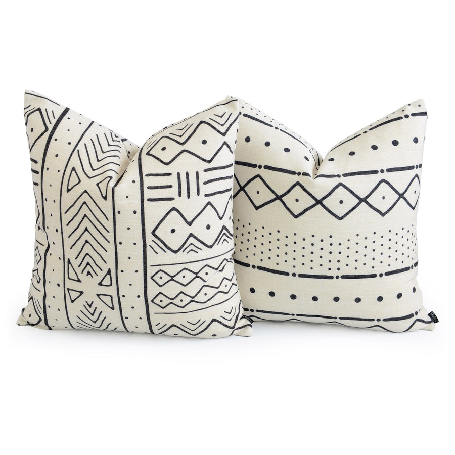 African themed mudcloth pillow combinations