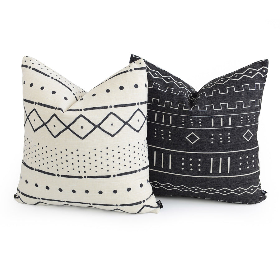 mudcloth floor pillow set