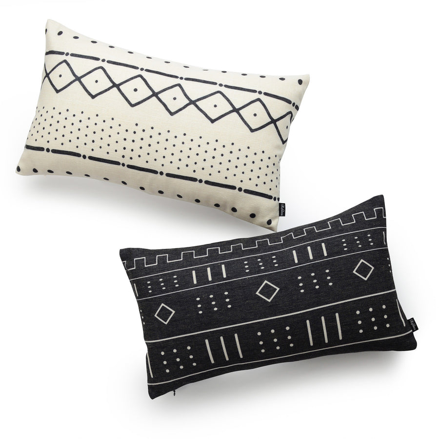 mudcloth couch pillow cover kit