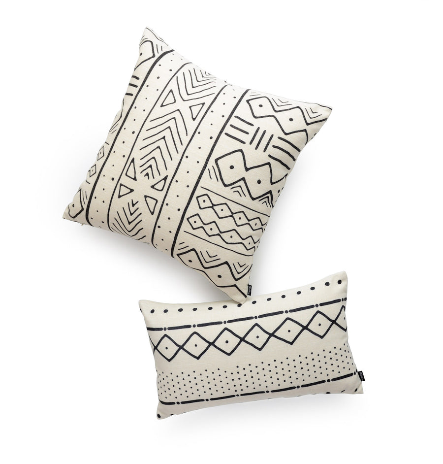 mudcloth body pillow cover set
