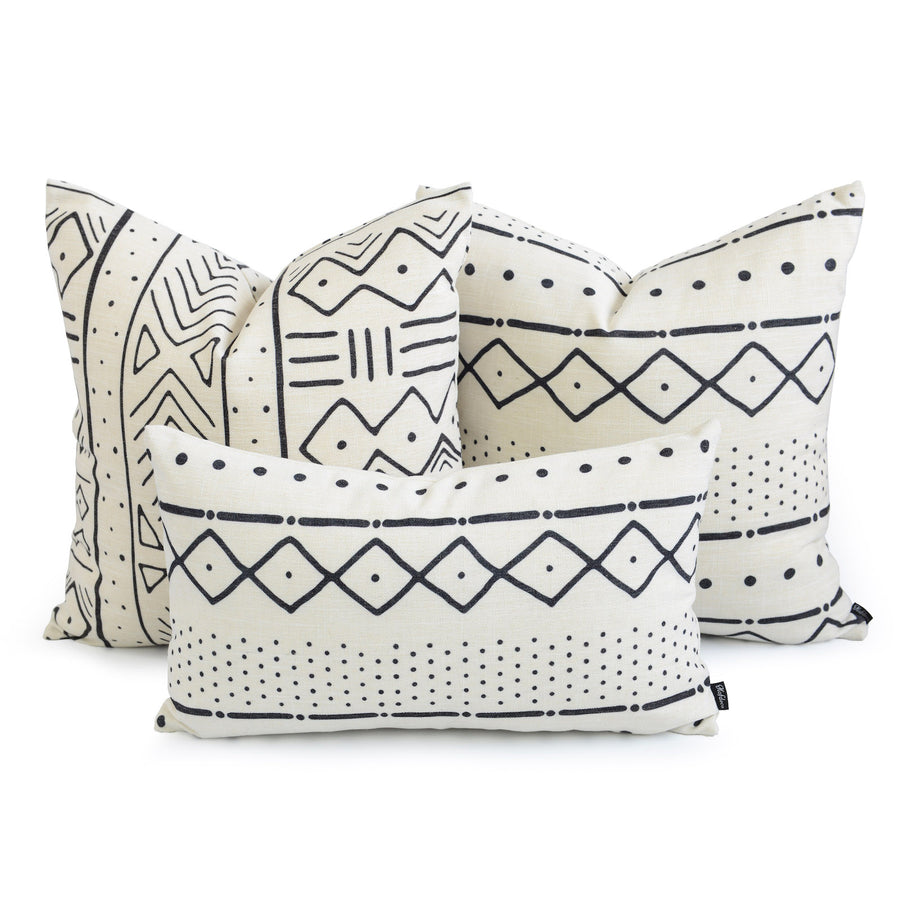 mudcloth couch pillow kit