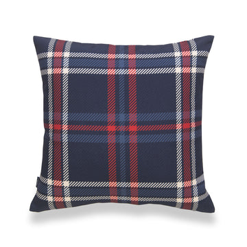 holiday pillow cover-tartan plaid-navy blue-18