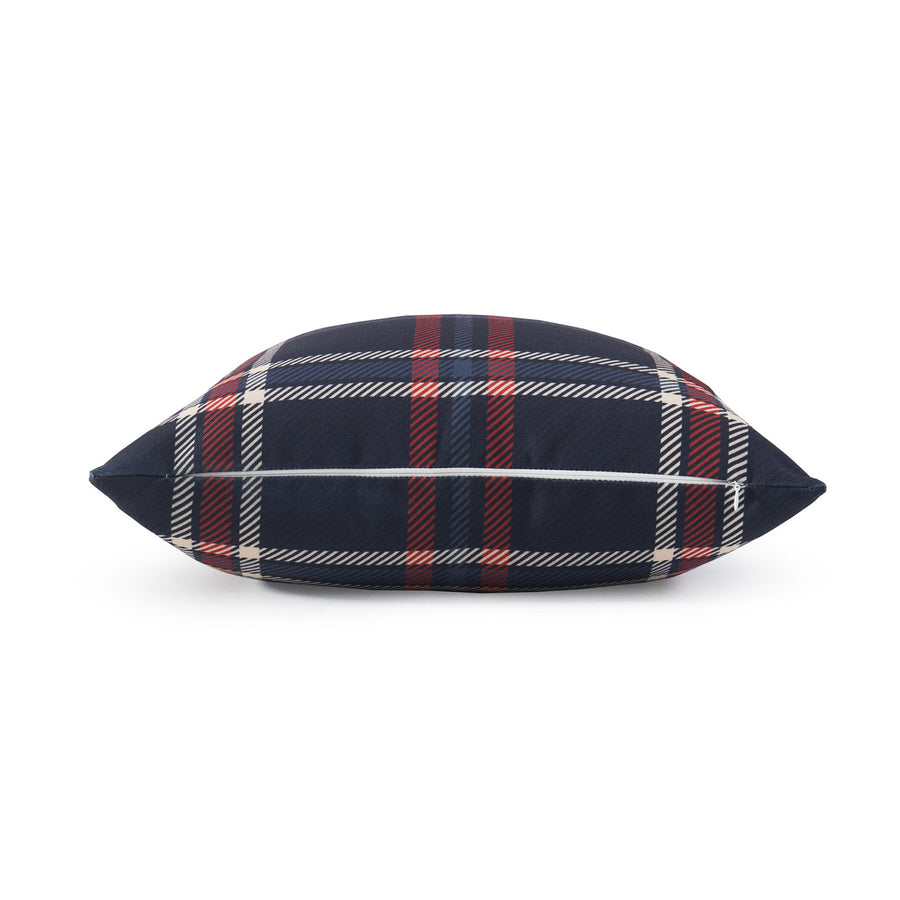 Holiday Pillow Cover, Tartan Plaid, Navy Blue, 18