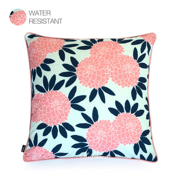 Hofdeco Navy Pink Chinoiserie Floral Outdoor Pillow Cover 18