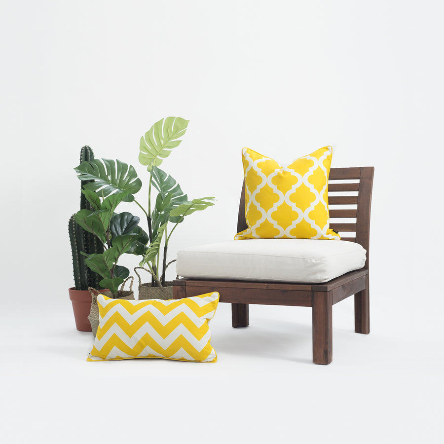 Yellow Outdoor Pillow Cover, Moroccan, 18