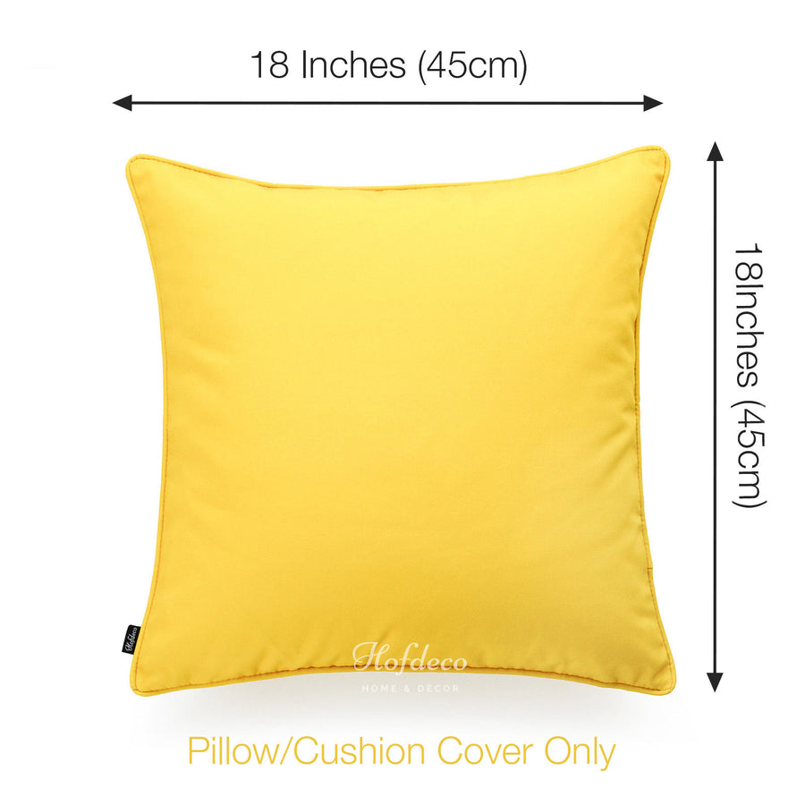 Yellow Outdoor Throw Pillows.Yellow Outdoor Pillow Cover Solid 18 X18