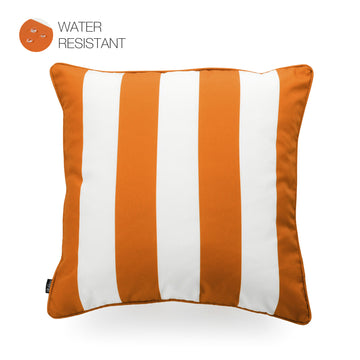 Hofdeco Orange Outdoor Pillow Cover, Stripes, 18