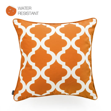 Hofdeco Orange Outdoor Pillow Cover, Moroccan, 18