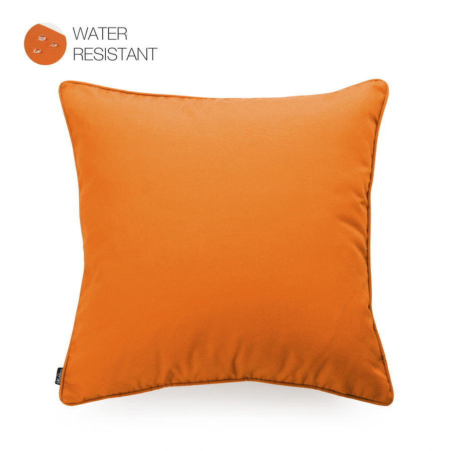Hofdeco Orange Outdoor Pillow Cover, Solid, 18