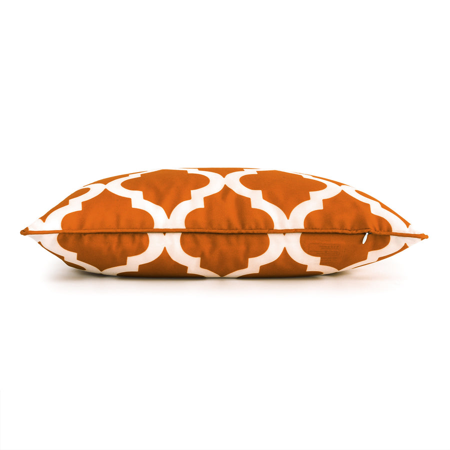 Orange Outdoor Lumbar Pillow Cover, Moroccan, 12