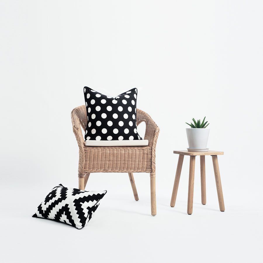 Black and White Outdoor Pillow Cover, Dots, 18