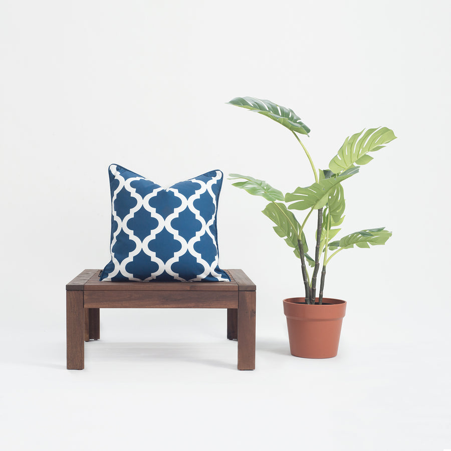 Navy Blue Outdoor Pillow Cover, Moroccan, 18