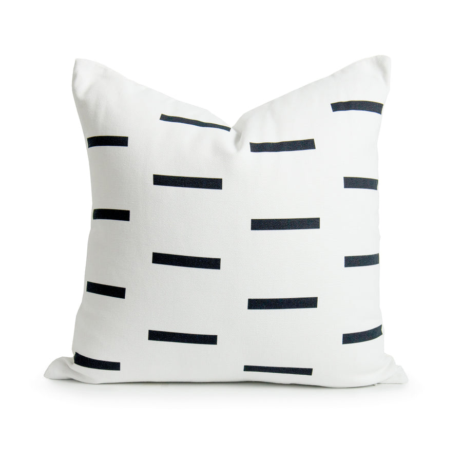 Hofdeco Aztec Print Pillow Cover, Stripes, Black White, 18