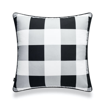 Classic Pillow Cover, Buffalo Check, Black, 20