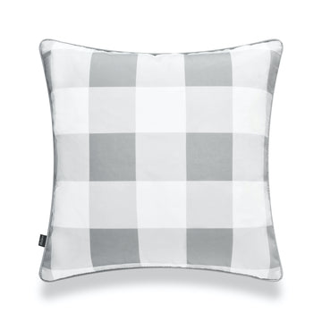 Classic Pillow Cover, Buffalo Check, Gray, 20