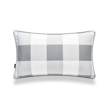 Classic Lumbar Pillow Cover, Buffalo Check, Gray, 12