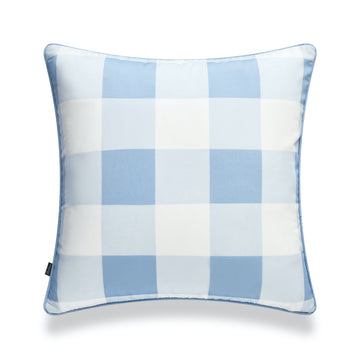 Coastal Pillow Cover, Buffalo Check, Baby Blue, 20