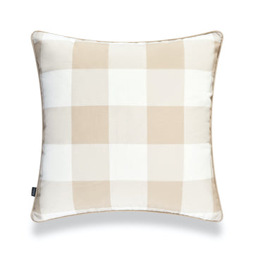 Coastal Pillow Cover, Buffalo Check, Tan, 20