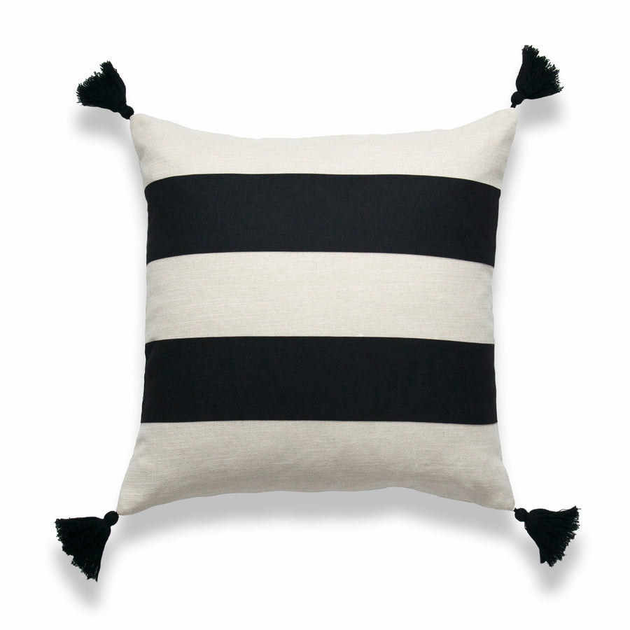 Moroccan Throw Pillows Stripes Black Beige Hofdeco