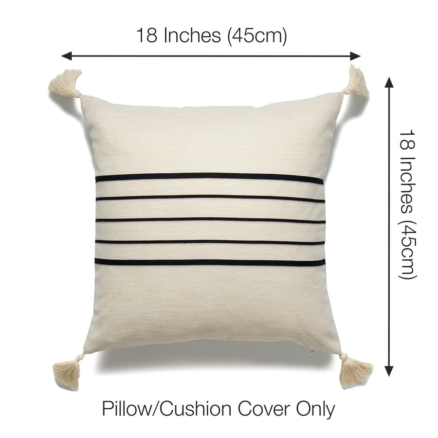 pillow covers with tassels