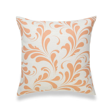 Fall Pillow Cover, Essa, Floral, Orange, 18
