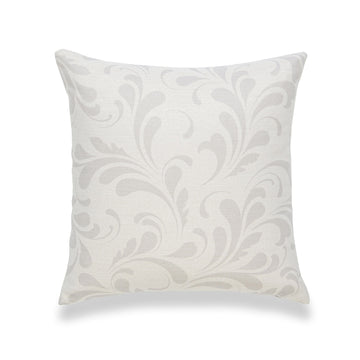 Neutral Pillow Cover, Essa, Floral, Gray, 18