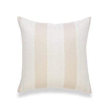 Coastal Pillow Cover, Elis, Stripe Tassel, Camel Sand, 20