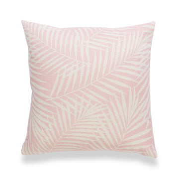 Spring Pillow Cover, Palm Leaf, Pink, 18