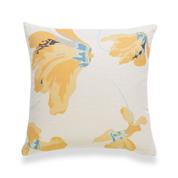 Spring Pillow Cover, Floral, Yellow, 18