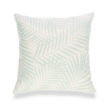 Spring Pillow Cover, Palm Leaf, Aqua, 18
