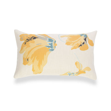 Spring Lumbar Pillow Cover, Floral, Yellow, 12