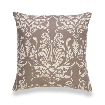 Modern Boho Pillow Cover, Damask, Brown, 20