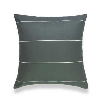 Modern Boho Pillow Cover, Stripes, Moss Green, 20