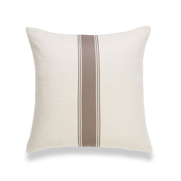 Modern Boho Pillow Cover, Brown, Stripe, 18