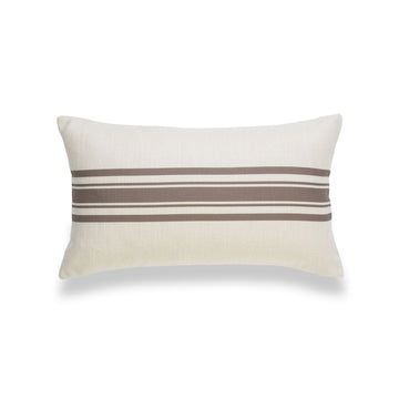 Modern Boho Lumbar Pillow Covers, Brown, Stripe, 12
