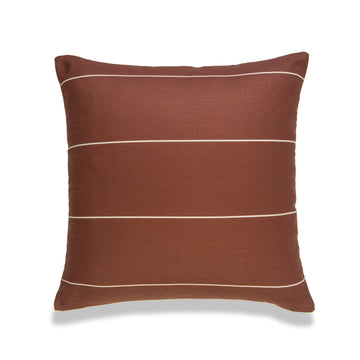 Modern Boho Pillow Cover, Rust, Stripes, 20