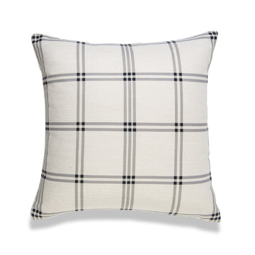 Modern Boho Pillow Cover, Gray, Plaid, 20