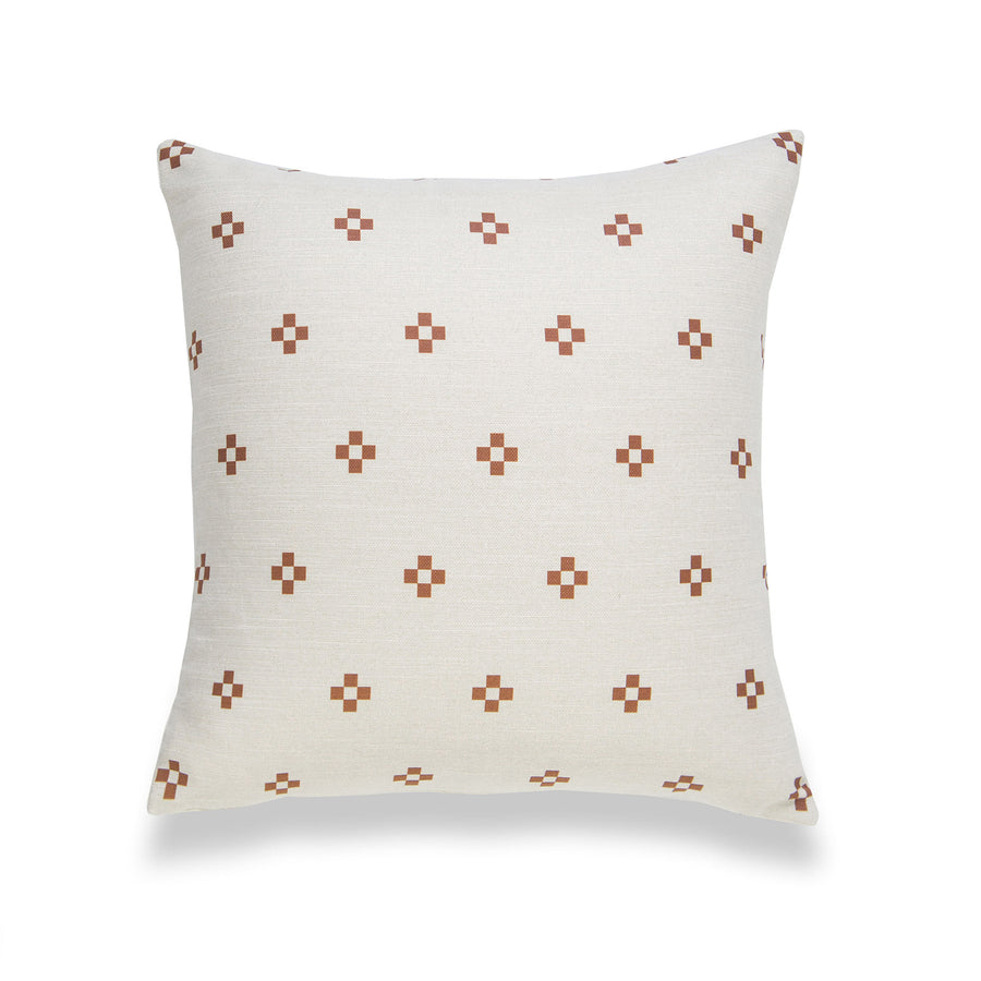 Modern Boho Pillow Cover, Rust, Ethnical Dots, 18