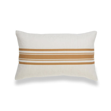 Modern Boho Lumbar Pillow Cover, Mustard Yellow, Stripes, 12