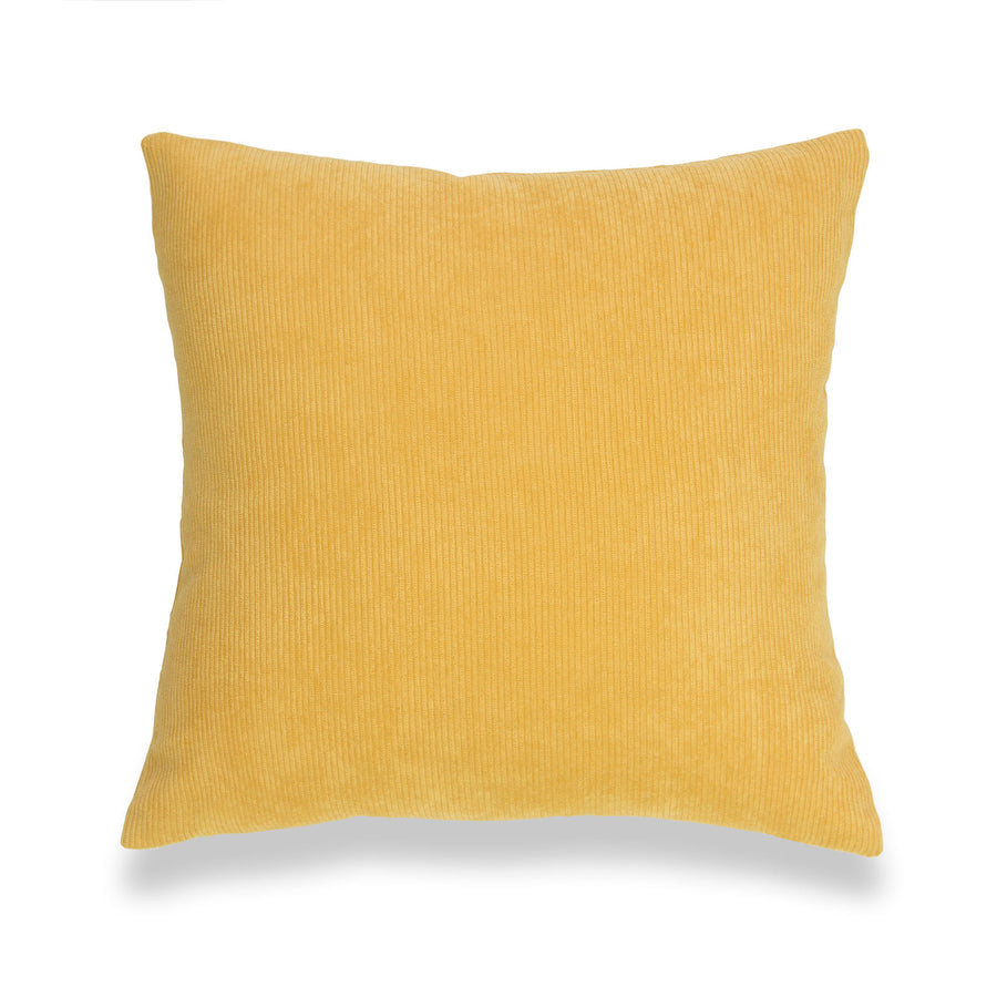Modern Pillow Cover, Corduroy, Mustard Yellow, 18