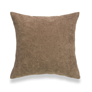 Modern Pillow Cover, Corduroy, Brown, 18