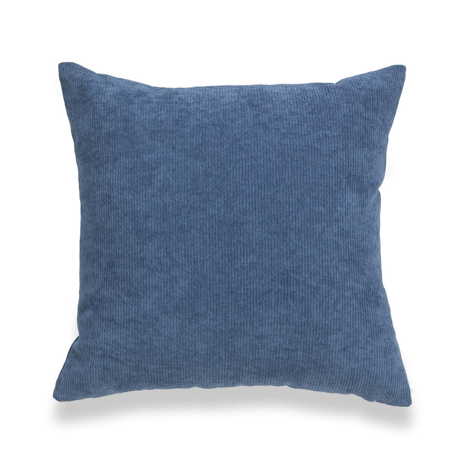 Modern Pillow Cover, Corduroy, Blue, 18