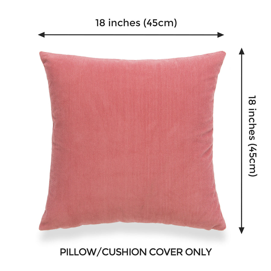 Modern Pillow Cover, Corduroy, Dusty Rose, 18
