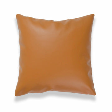 Modern Boho Throw Pillow Cover, Vegan Leather, Brown, 20