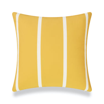 Classic Outdoor Pillow Cover, Yellow Wide Striped, 20