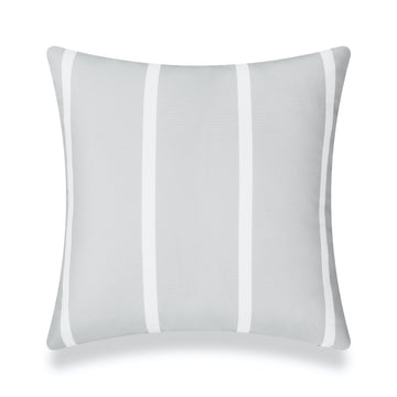 Classic Outdoor Pillow Cover, Gray Wide Striped, 20