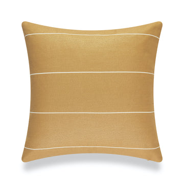 Modern Boho Outdoor Pillow Cover, Mustard Yellow Striped, 20