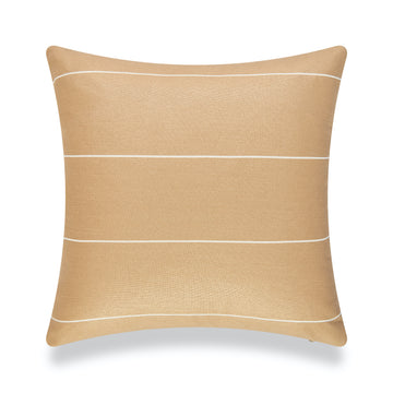 Modern Boho Outdoor Pillow Cover, Sand Striped, 20