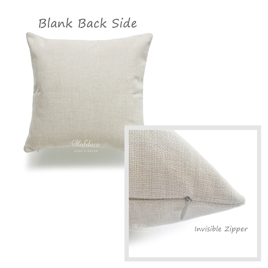 Cotton Linen Fabric Pillow Cover