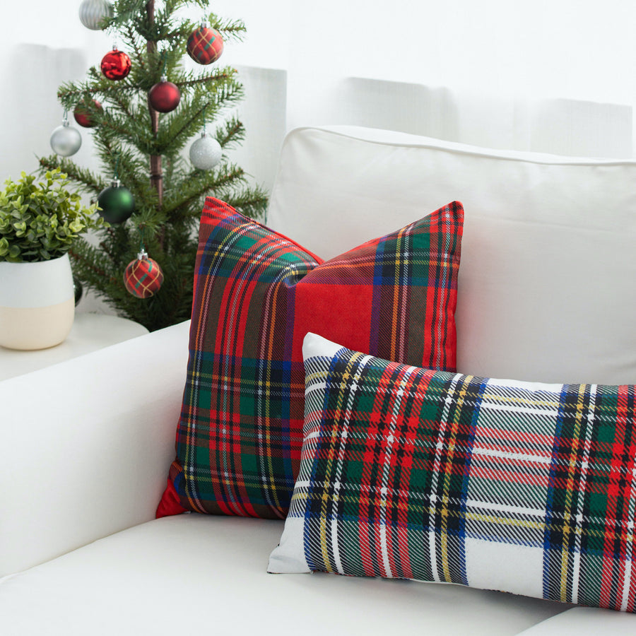 Holiday Pillow Cover, Classic Royal Stewart Tartan Plaid, Red, 18
